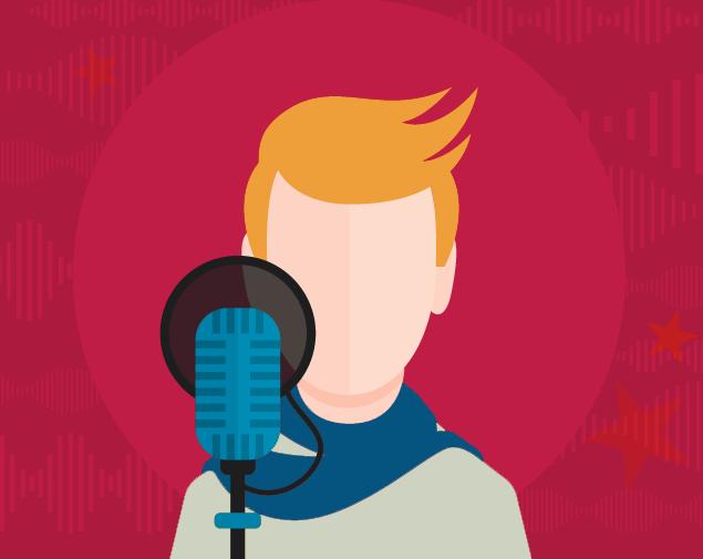illustration of voice-over artist